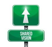 Geteiltes VisionsVerkehrsschild Lizenzfreie Stockfotos