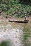 Getek łódź jako środek krzyżować rzekę Zdjęcie Royalty Free