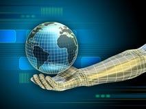 Getelegrafeerde wereld Stock Foto