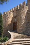 Getes of Villena Castle in Costa Blanca Alicante Spain. Stock Image