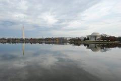Getijbekken & de Monumenten van Washington D.C. het Stock Foto's