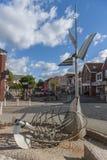 Getijdenfontein in de Stad van Esens-het Oosten Frisia Duitsland Stock Afbeelding