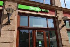 Getinbank stock afbeelding