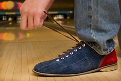 Geting ready for bowling! Stock Photo