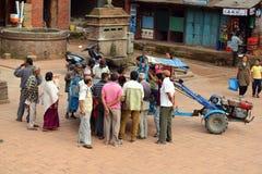 Getoffer i Katmandu, Nepal Fotografering för Bildbyråer