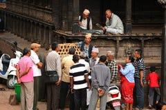 Getoffer i Katmandu, Nepal Arkivbilder