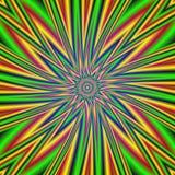 Getolde psychedelische achtergrond Royalty-vrije Stock Afbeelding