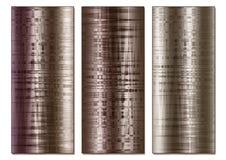 Getontes Bronzeeffekt-Zusammenfassungs-Triptychon Lizenzfreie Stockfotografie