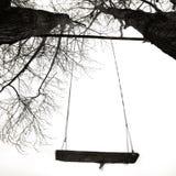 Getontes Schwarzweiss-Bild mit einem Schwingen Lizenzfreie Stockfotografie