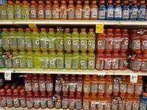 Getorade shelves Royalty Free Stock Photos