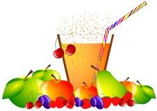 Getränk der frischen Frucht und des Cocktails Stockfotografie