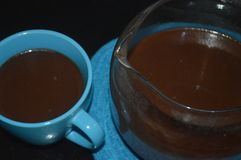 Getränk der heißen Schokolade während des Weihnachten stockfotos