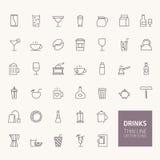 Getränk-Entwurfs-Ikonen Lizenzfreies Stockbild