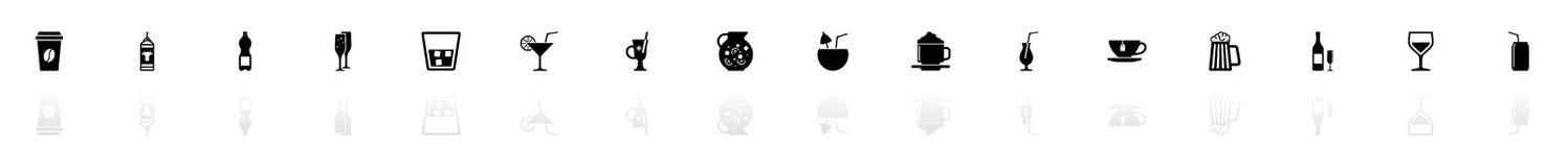 Getränk - flache Vektor-Ikonen lizenzfreie abbildung
