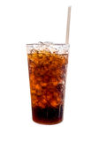 Getränk im Glasisolat auf weißem Hintergrund Lizenzfreies Stockfoto