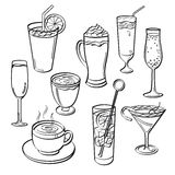 Getränk-Satz Lizenzfreies Stockbild