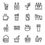 Getränk-und Getränkeikone Lizenzfreie Stockfotos