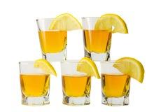 Getränk und Zitrone Stockbild