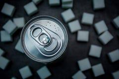 Getränk und Zucker Platz für Text stockfoto