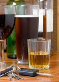 Getränkantreiben stockfoto