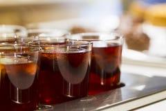 Getränke in den Gläsern Lizenzfreie Stockfotografie