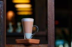 Getränke in der Kaffeestube Stockfoto