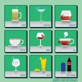 Getränke halten und Restaurant ab Stockfoto