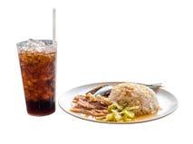 Getränke- und Lebensmittelisolat auf weißem Hintergrund Stockfotos