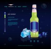 Getränkeproduktweb site Lizenzfreies Stockbild