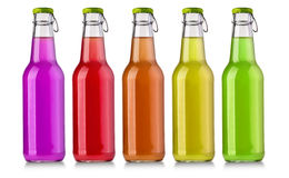 Getränkflasche auf Weiß lizenzfreie stockbilder