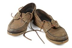 Getragene heraus Schuhe Lizenzfreie Stockbilder