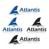 Getragene Schiffe Atlantis Wasser Stockfotografie