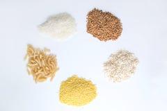 Getreide auf einem weißen Hintergrund Stockbild