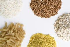 Getreide auf einem weißen Hintergrund Lizenzfreies Stockfoto