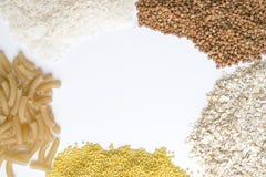 Getreide auf einem weißen Hintergrund Lizenzfreies Stockbild