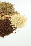 Getreide blättert zum Frühstück ab lizenzfreie stockfotos