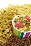 Getreide blättert zum Frühstück ab stockfotografie