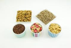 Getreide blättert zum Frühstück ab Stockfotos
