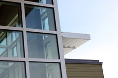Getreide des modernen Gebäudes Stockfotos
