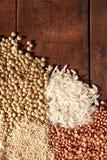 Getreide-Hintergrund Stockfotos