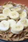 Getreide mit Bananen Lizenzfreies Stockbild