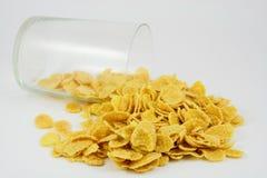 Getreide mit Glas Lizenzfreie Stockbilder