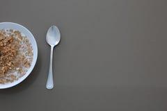 Getreide mit Milch Stockfotografie