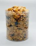 Getreide mit Rosine und Nuss Lizenzfreies Stockfoto