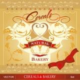 Getreide u. Bäckerei lizenzfreie abbildung