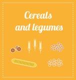 Getreide und Hülsenfrüchte Stockfotos
