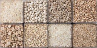 Getreide und Hülsenfrüchte Stockfotografie