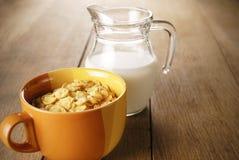 Getreide und Milch Lizenzfreie Stockbilder