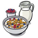 Getreide und Milch lizenzfreie abbildung