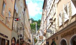 Getreidegasse street in Salzburg Royalty Free Stock Photo